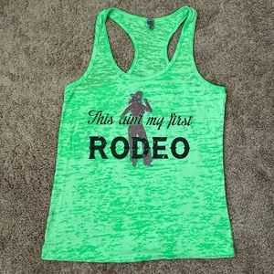 Rodeo racer back tank top